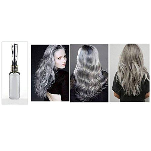 Gemini _ Mall, Haarfarbe, 13Farben, temporäre Haarfarbe, mit Auftragung durch eine Mascarabürste (Grau Permanente Haar Farbstoff)