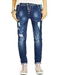 Bestyledberlin Damen Relaxed Fit Jeans, Destroyed Style Boyfriend-Jeans, Baggy Hosen Loose Cut j72f