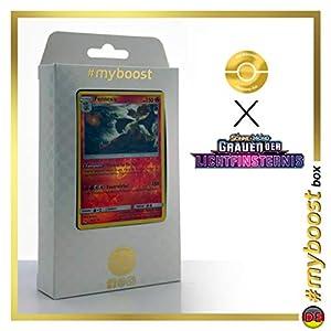 Fennexis (Delphox) 17/131 Holo Reverse - #myboost X Sonne & Mond 6 Grauen Der Lichtfinsternis - Box de 10 Cartas Pokémon Aleman