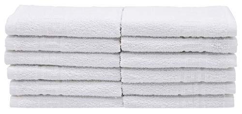 Zollner 12er Set Seiftücher Baumwolle, 30x30 cm, weiß, Hotelqualität