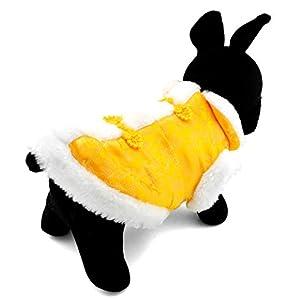 Pegasus Pet chiot vêtements pour chat/petit chien chinois Impérial Antique Costume Couverture en soie avec doublure en polaire pour chien