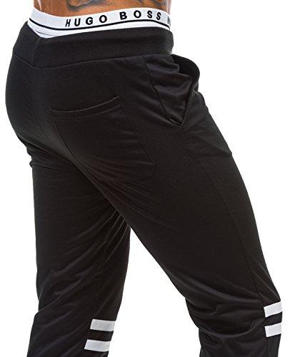 BOLF – Pantalons de sport – Joggings pantalons – STREET STAR 1071 – Homme Noir