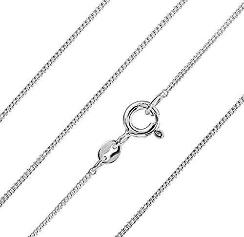 Carolina Meyer Schmuck feine 925 Silber Panzerkette 1mm - Damen Halskette Silber in 22