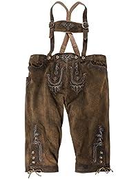 Kniebund Trachten-Lederhose braun-beige Dietrich von Lekra Übergröße