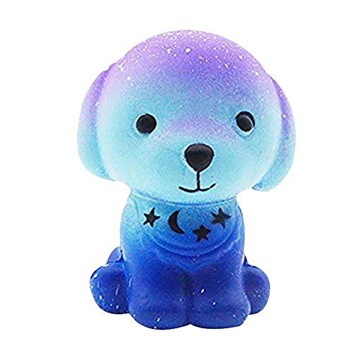 Goodtimes28Cute Weich Galaxy Hund langsam Rising Stress Kombination Kinder Erwachsene Squeeze Spielzeug Multi