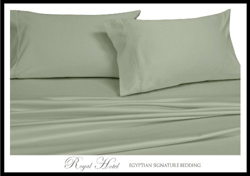 Seidig Salbei (Royal Hotel S dard seidig weiches Bett Kissen- 100% Rayon aus Bambus 2PC Kissenbezüge Salbei Standard-Kissen-)