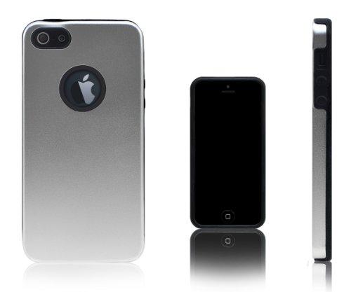 Xcessor Force Field Metal Schutzhülle Für Apple iPhone SE / 5S / 5. Metall und Silikon. Farbe Silber silber