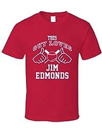 This Guy Loves Jim Edmonds Cincinnati Baseball Player Classic T Shirt XXXX-L