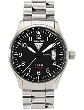 Junkers Herren-Armbanduhr XL 150 Jahre Hugo Junkers Automatik M821A Analog Automatik Edelstahl 6664M2