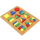 Vroeg leren Educatieve geometrie Vorm Cognition Toys Duurzaam Shape Cognition Toy, zeer simulatie voor kinderen die plezier hebben(Geometric shape recognition board)