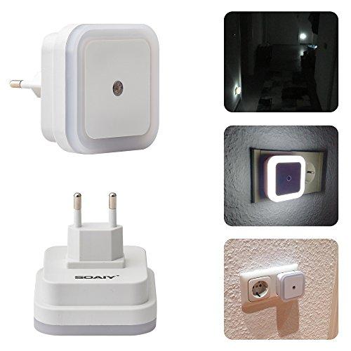 comprare on line SOAIY® 4 Pezzi 0.5w Luce Notturna LED Illumina Solo di Notte, Lampada Wireless da Parete, Bianco prezzo