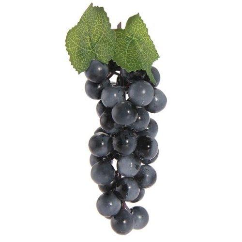 takestop-set-3-pezzi-grappolo-grappoli-uva-10cm-viola-artificiale-realistici-frutta-finta-plastica-d