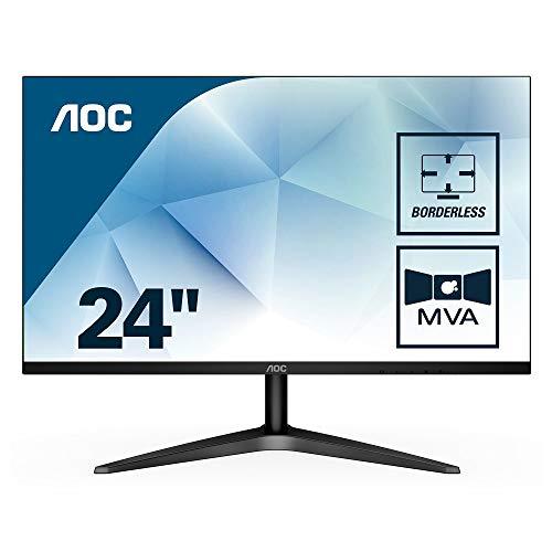 AOC 24B1H 59,9 cm (24 Zoll) Monitor (VGA, HDMI, MVA Panel, 1920 x 1080 Pixel, 60 Hz) schwarz - 1080p Computer-monitor