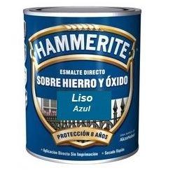 Hammerite Esmalte Metálico Liso Brillante Azul 750ml