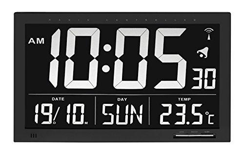 TFA Dostmann 60.4505 digital Reloj de pared Vesuv (negro con baterías)