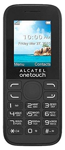 Alcatel-OT-1052g One Touch 1052Handy-Schwarz-Bluetooth, VGA-Kamera für Fotos und Videos, Diktiergerät, Taschenlampe, Grosse Tasten (Senior Handy), microSD HC Slot bis 32GB, Radio FM