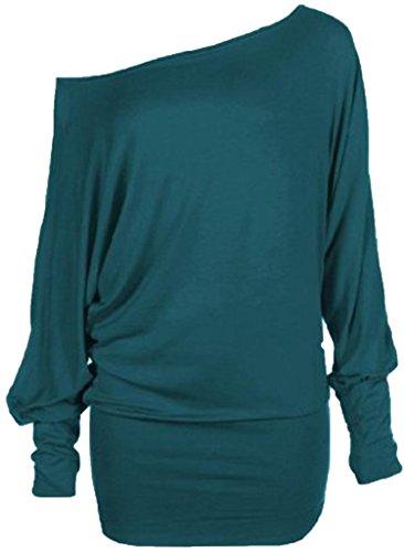 dames plus size vleermuismouwen volledige mouwen off shoulder top vrouwen casual slouch stretch top maat 16 tot 26 taling