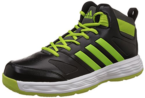 adidas Men's Indomitable Black, Dark Grey and Yellow Multisport Training Shoes - 8 UK