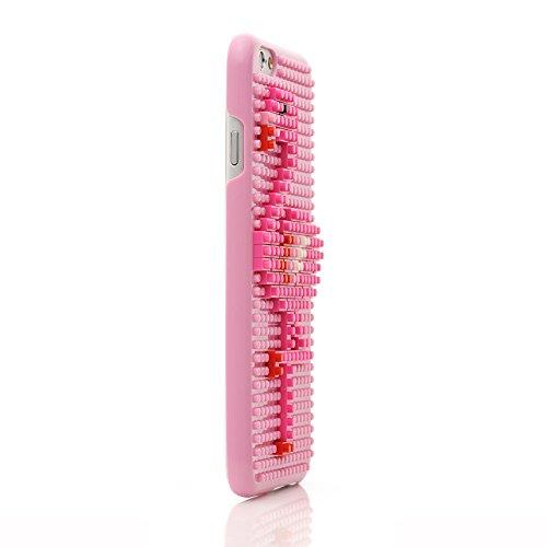iProtect Apple iPhone 6, 6s DIY Hardcase Schutzhülle mit Bausteinen zum Zusammenstecken - Motiv Pilz Flamingo