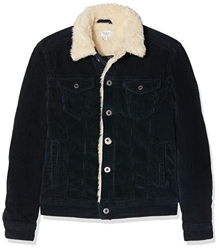 Pepe jeans legendary shepherd cord giacca, (navy 595), 11-12 (taglia produttore: 11/12 anni) bambino