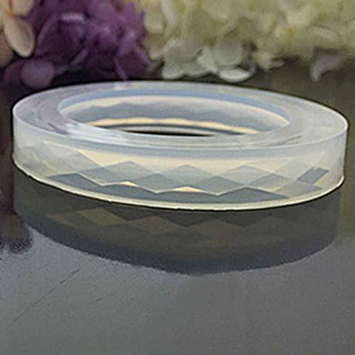Plzlm Silikon-Diamantförmig Oberfläche Armband Mold DIY Harz-Armband Schmuck-Form