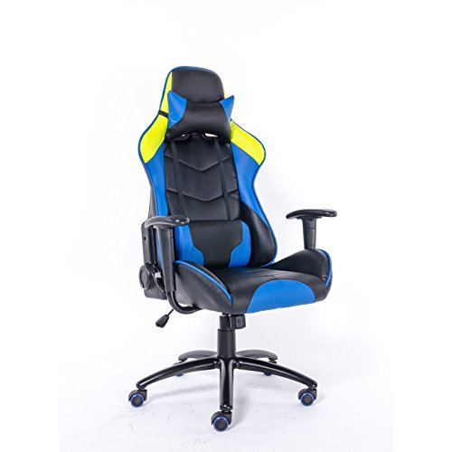 colourliving Bürostuhl Kunstleder ergonomisch aus Leder Optik Bürosessel Gaming Chair Gamer Stuhl Chefsessel
