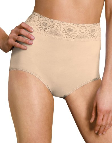 Hanes Bali Lacy Skamp Brief Panty_Mocha Mist_5 (Panties Briefs Bali)