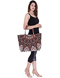 Red Paisley Mandala Printed Hand Bag Tote Bag Hobo Bag Girl's Hand Bag Tote Bag Women's Sling Bag Wallet Stylish...
