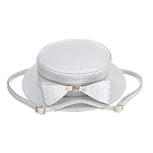 Ital-Design, Borsetta da polso donna grigio argento