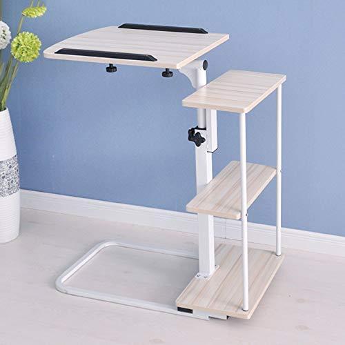 BinLZ-Table Computer Klappbuchtisch Nachttisch Höhenverstellbar Farbe Optional, Weißer Ahorn -