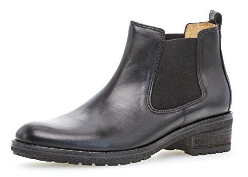Boots 91.610,Frauen Stiefel,Halbstiefel,Stiefelette,Bootie,Schlupfstiefel,hoch,Blockabsatz 3cm,F Weite (Normal),schwarz,UK 5 ()