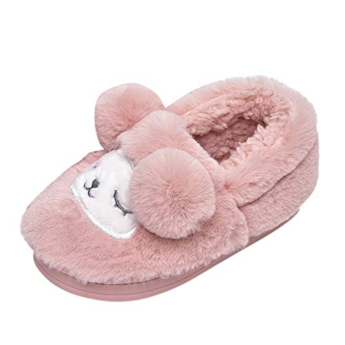 89ebe6d866a26 Chaussons Enfant Unisex Hiver Chaud Pantoufles Fille Garçon Cartoon Chien  Animaux Slippers Bébé Chaussures Maison Intérieures