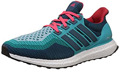 adidas Men's Ultra Boost M Green, Blue and Red Mesh Running Shoes - 6 UK
