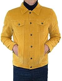 Jacket Mustard Yellow Corduroy Short Coat Mod Indie denim Cord 60's 70's Hippie