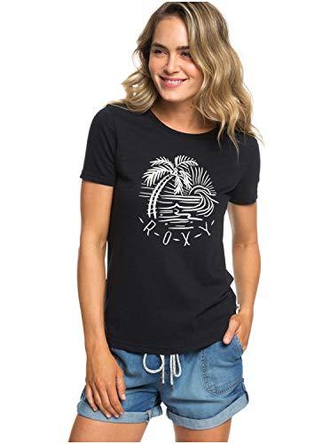 Roxy Damen Red Lines Tee-Shirt, True Black, S Line-tee