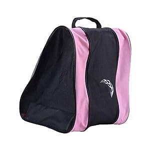 Black Temptation Unisex Wasserdichte Rollschuhe tragen Schultertasche Eislaufen Schuhe Tasche – A1