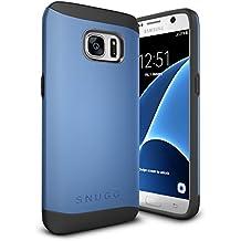 Funda Galaxy S7, Snugg Samsung Galaxy S7 Case Slim Carcasa de Doble Capa [Infinity Series] Revestimiento con Protección Anti-Golpes – Azul
