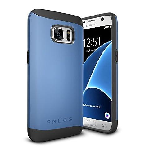 Coque Galaxy S7, Snugg Samsung Galaxy S7 Double Couche Case Housse Silicone [Bouclier Légère] Etui de Protection – Bleu, Infinity Series