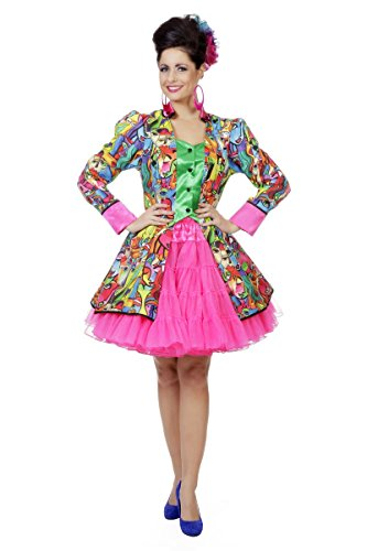 Damen Kostüm Jacke Kubismus Künstler Maler Karneval Fasching - Maler Künstler Kostüm