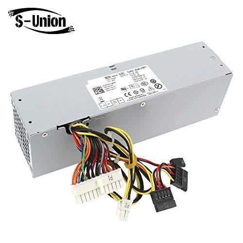 S-Union - Unidad de Fuente de alimentación de Repuesto para DELL OptiPlex  390 790 960 990 3010 9010 (240 W, SFF H240AS-00 H240AS-01 H240ES-00