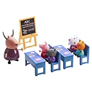 Peppa Pig's Classroom Playset The Peppa Pig Classroom comes complete with four desks and chairs, a free standing blackboard, a Madame Gazelle teacher figure as well as Peppa and seven of her schoolmates. What better way to promote the value o...