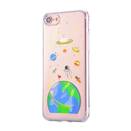 Coque iPhone 6S Plus, Sunroyal iPhone 6 Plus (5.5 pouces) Silicone Coque de Protection Transparente TPU Gel Souple Etui Housse Anti-choc Shock-Absorption Bumper Case Cover Premium Ultra-Mince Motif Im Motif 10