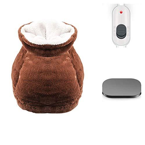 FPXNBONE Heizung Fußmassage,Stecken Sie elektrische Heizung warme Fußschatz, Büroheizung Überschuh, Heizung Fuß Pad-A Aufladen,Verdickte USB Fußwärmer