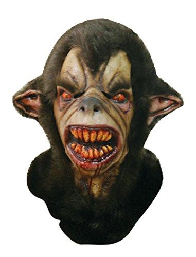 Scary Halloween Latex Kopf-, Hals- und Gesichtsschutz Wulver gruselige Party Kostüm