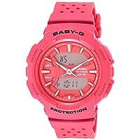Casio Womens Quartz Watch, Analog-Digital Display and Resin Strap BGA-240-4ADR