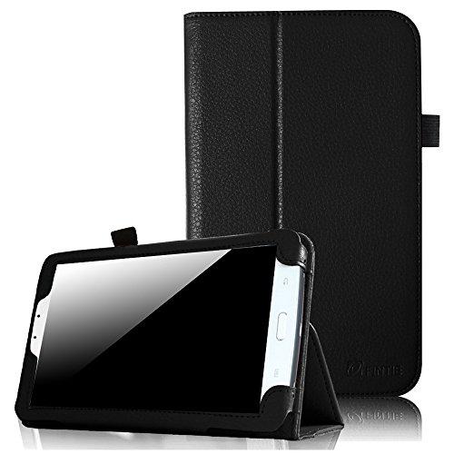 Fintie Samsung Galaxy Tab 3 7.0 (7 Zoll) SM-T210 SM-T211 Hülle Case - Slim Fit Folio Bookstyle Kunstleder Schutzhülle Cover Tasche mit Ständerfunktion und Stylus-Halterung, Schwarz