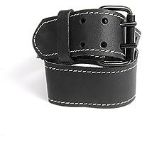kwb Gürtel aus Leder 908820 (robustes Rindsleder, Doppelstegschnalle, in Schwarz)