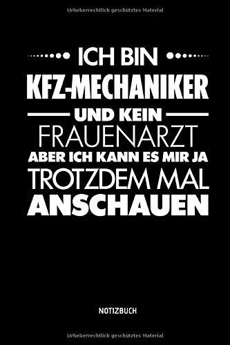 Notizbuch: Lustiges KFZ-Mechaniker Notizbuch mit Punktraster. Tolle Zubehör & KFZ Mechaniker Geschenk Idee.