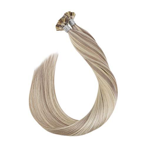 Ugeat 16 pollici highlight biondo capelli umani estensioni 50g 1g/s flat tip seta dritto brasiliano remy capelli umani estensioni
