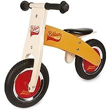 Janod Little Bikloon Mi Primera Bicicleta sin Pedales, Madera, Amarillo / Rojo (J03263
